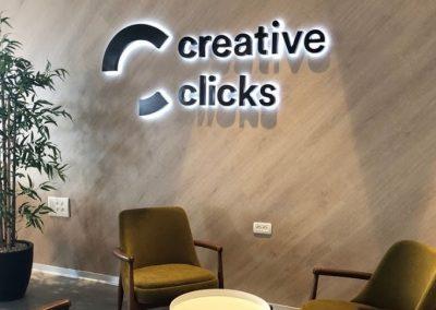 שלט יוקרתי creativ clicks